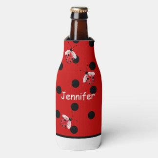 Ladybugs and Polka Dots Custom Bottle Cooler