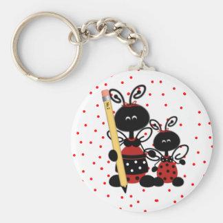 Ladybugs and Polka Dots Teacher's Key Chain