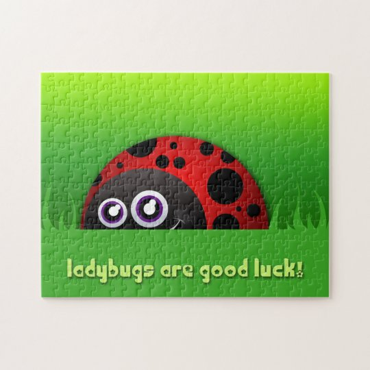 Ladybugs are Good Luck Cartoon Puzzle