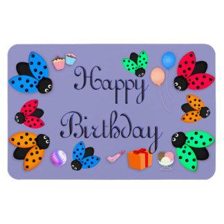 Ladybugs birthday rectangular photo magnet