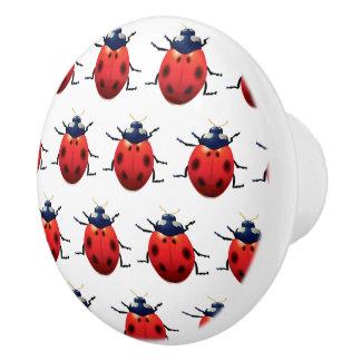 Ladybugs Ceramic Knob