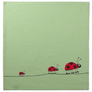 ladybugs green American MoJo Napkin