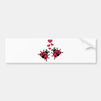 Ladybugs in love hearts bumper sticker