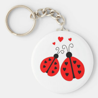 Ladybugs in Love Keychain