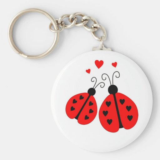 Ladybugs in Love Keychain