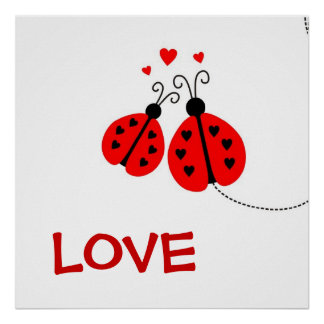 Ladybugs in Love Poster