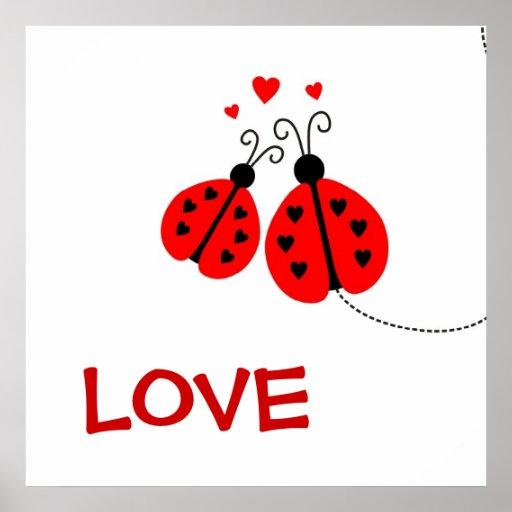 Ladybugs in Love Print