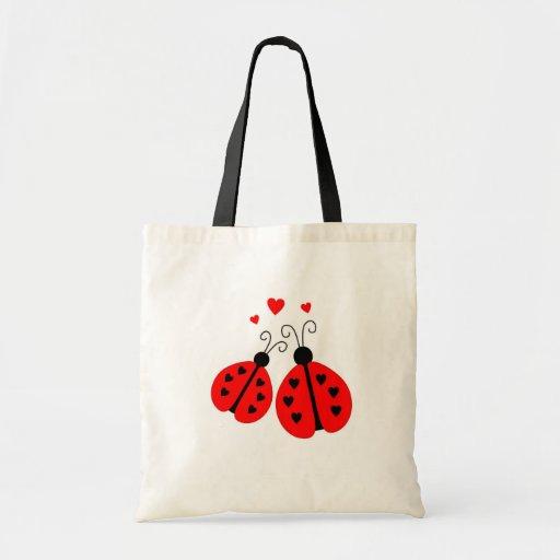 Ladybugs in Love Tote Bag
