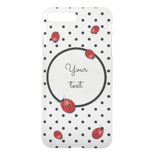 Ladybugs in red iPhone 7 plus case