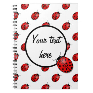 Ladybugs in red notebook