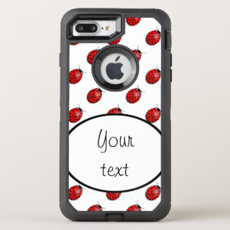 Ladybugs in red OtterBox defender iPhone 8 plus/7 plus case