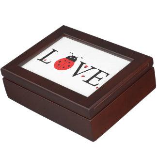 Ladybugs 'Love' Design With Inside Lid Bonus Bugs Keepsake Boxes