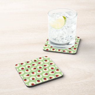 Ladybugs pattern coasters