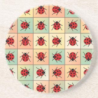 Ladybugs pattern coasters