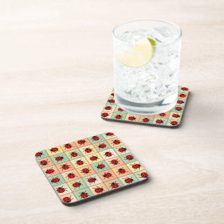 Ladybugs pattern drink coaster