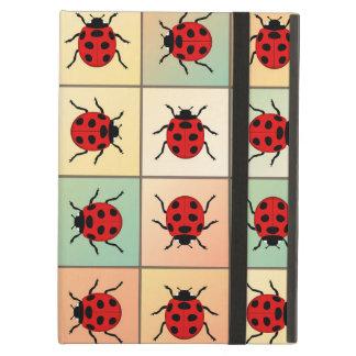 Ladybugs pattern iPad air cover