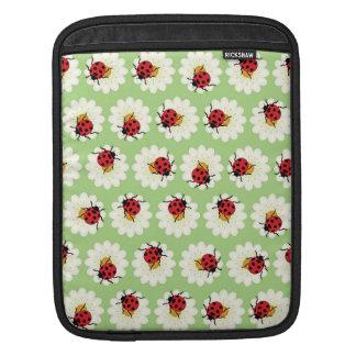 Ladybugs pattern iPad sleeve