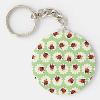Ladybugs pattern key ring