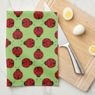 Ladybugs Pattern Kitchen Towel