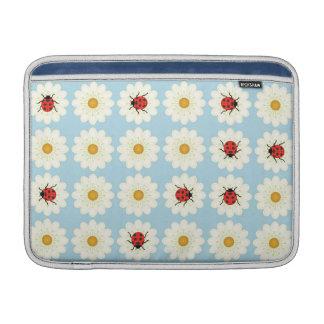 Ladybugs pattern MacBook sleeve