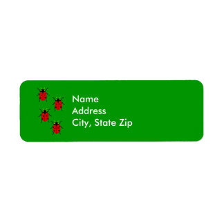 Ladybugs Return Address Label