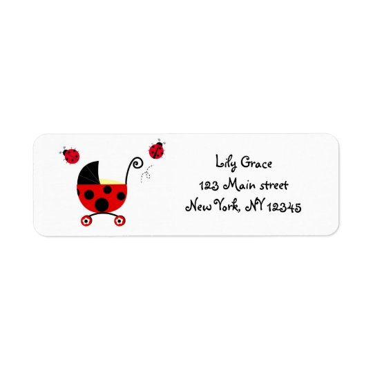 Ladybugs Return address labels