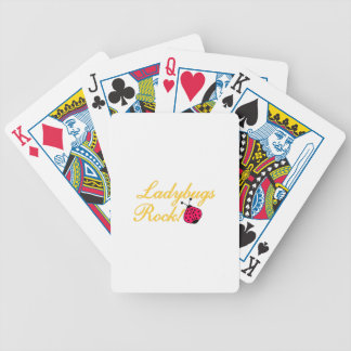 Ladybugs Rock Bicycle Playing Cards