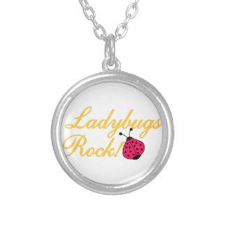 Ladybugs Rock Round Pendant Necklace