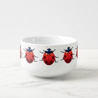 Ladybugs Soup Bowl With Handle