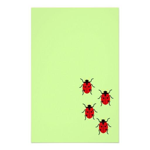 Ladybugs Personalized Stationery