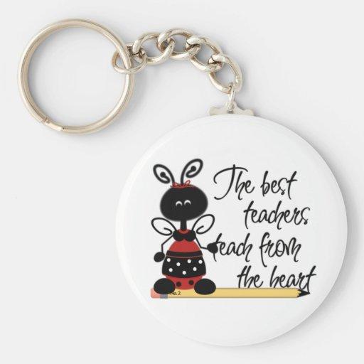 Ladybugs Teacher's Key Chain
