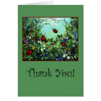 Ladybugs Thank You Card