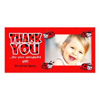 ladybugs thank you for your wonderful gift photo card