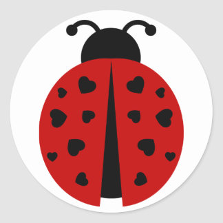 ladybugz. round sticker