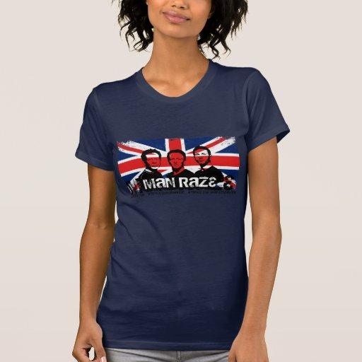 Lady's Basic Tee- Union Jack Navy