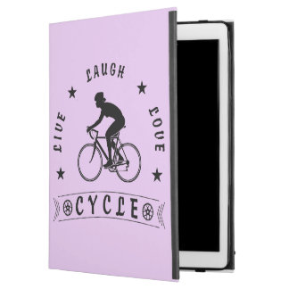 "Lady's Live Laugh Love Cycle text (blk) iPad Pro 12.9"" Case"