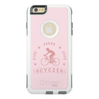 Lady's Live Laugh Love Cycle text (pink) OtterBox iPhone 6/6s Plus Case