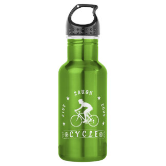 Lady's Live Laugh Love Cycle text (wht) 532 Ml Water Bottle