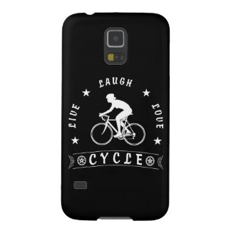 Lady's Live Laugh Love Cycle text (wht) Galaxy S5 Case