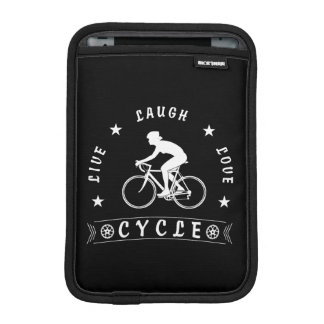 Lady's Live Laugh Love Cycle text (wht) iPad Mini Sleeve