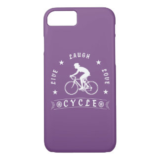 Lady's Live Laugh Love Cycle text (wht) iPhone 8/7 Case