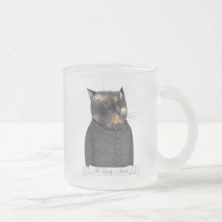 Lady's Maid Cat Frosted Mug