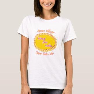 Lady's Mono Village Flower T-Shirt