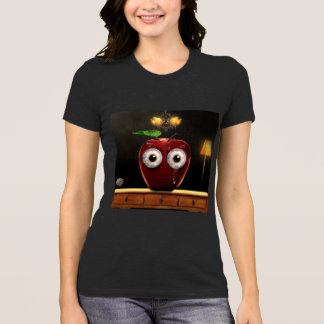 Lady's shirt with sad Apple design