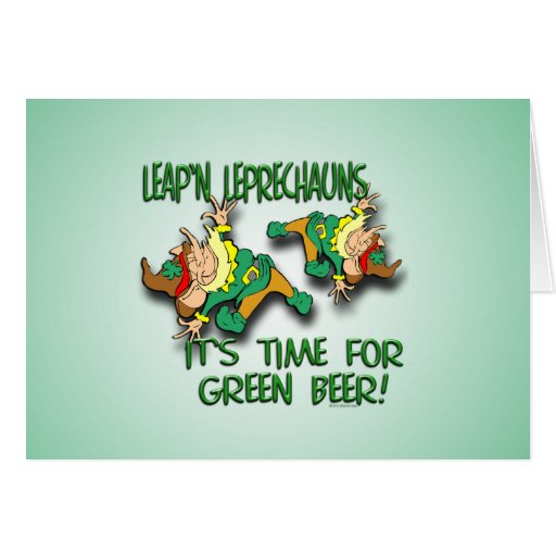 Laep'n Leprechauns... Greeting Cards