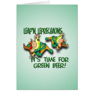 Laep'n Leprechauns... Greeting Card
