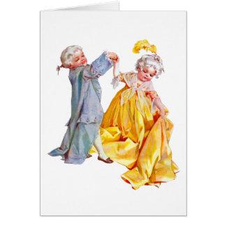 Lafayette Dances the Minuet Card