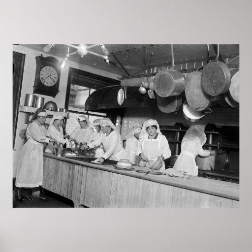 Lafayette Hotel Kitchen, early 1900s Print