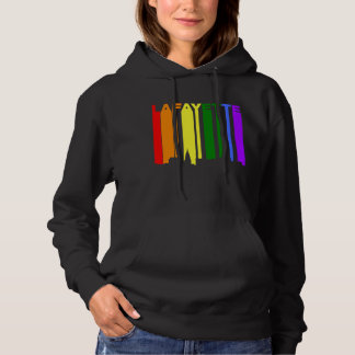 Lafayette Indiana Gay Pride Rainbow Skyline Hoodie