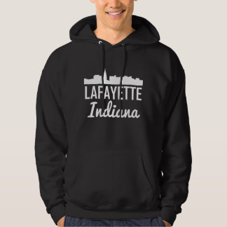 Lafayette Indiana Skyline Hoodie